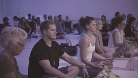 Modern OM Mindfulness Festival Dark Yoga