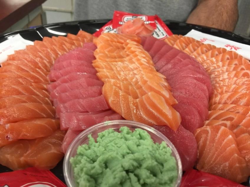 Captain Kidd's Salmon and Tuna Sashimi 2