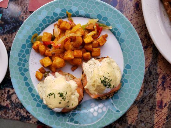 Maya's Grill Smoked Salmon Eggs Benedict