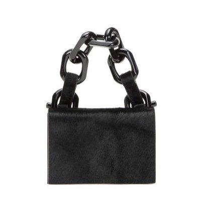 Calvin Klein Collection Calf Hair Chain Bag
