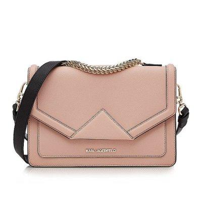 Karl Lagerfeld 'Klassik' Leather Shoulder Bag