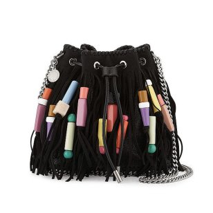Stella McCartney 'Falabella' Fringe Bead Bucket Bag