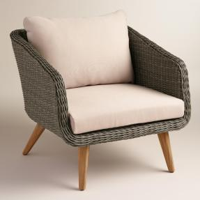 Gray All Weather Wicker Minorca Chair (worldmarket.com, okoli 400 evrov)