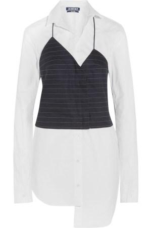 Jacquemus Stretch-Cotton Poplin and Pinstripe Dress (net-a-porter.com, 440 €)