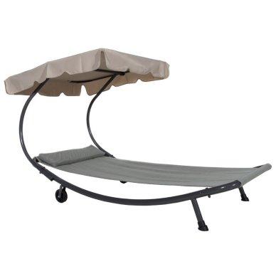 Abba Patio Wide Patio Pool Hammock Bed Lounger with Sun Shade (overstock.com, okoli 200 evrov)