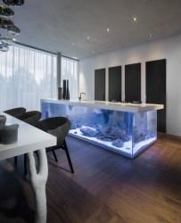 Kuhinjski otoček z akvarijem