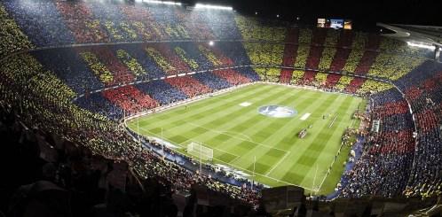Camp Nou v Barceloni je največji stadion v Evropi (sprejme lahko 100.000 gledalcev). Poleg tega ima tudi največ pristašev, saj je Camp Nou stadion nogometnega kluba FC Barcelona.