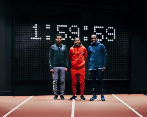 Trije atleti, ki sodelujejo v projektu Breaking2 in bodo skušali prebiti magično mejo dvem ur.
