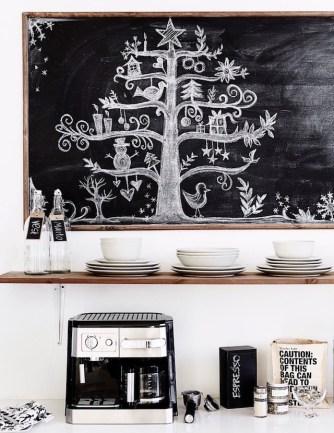 Drevesce, narisano na tablo