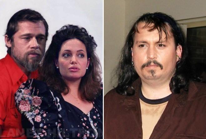 Brad Pitt, Angelina Jolie in Johnny Depp