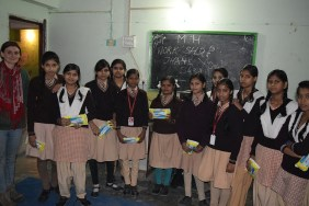 MH workshop and distributed pads in schools 1