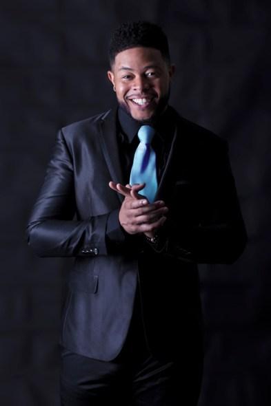 Promo Suit blue tie