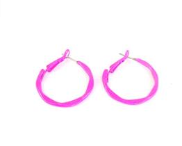 neon pink hoop earrings