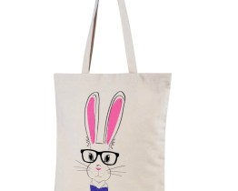 rabbit shopper bag