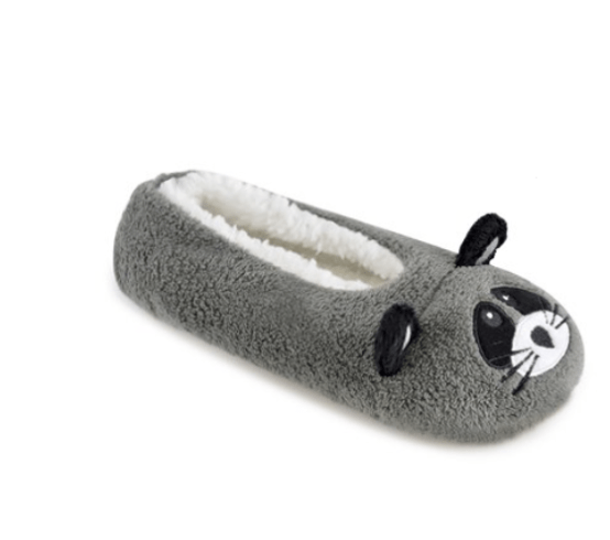 raccoon ballerina slippers
