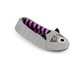 novelty raccoon slippers