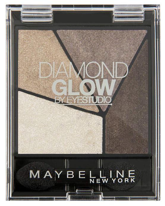 maybelline diamond glow eyeshadow quad coffee drama
