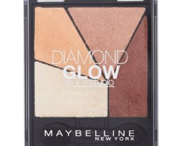Maybelline diamond glow quad eyeshadow coral drama