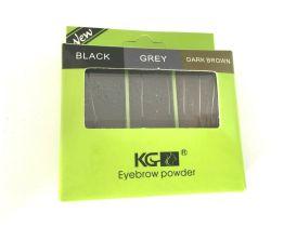 Krazy Girl Eyebrow powder kit Black, grey & dark brown