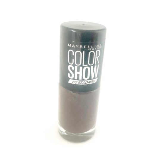 Maybelline Color Show Nail Polish Midnight Taupe 549, Brown Nail Polish, 60 Seconds