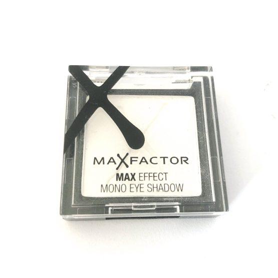 Max Factor Max Effect Eyeshadow White Satin 01, White Eye Colour