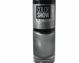 Maybelline Color Show Nail Polish Watery Waste 107, Silver Nail Polish, Nail Colour, 60 Seconds