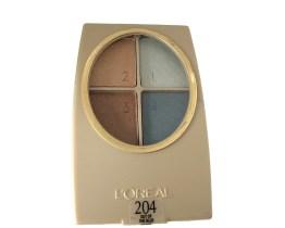 L'Oreal Infinite Wear Quad Eyeshadow Palette Out of the Blue 204, Blue Eyeshadow, Brown Eyeshadow