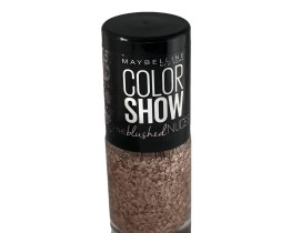 Maybelline Color Show Nail Polish Crushed Petals 450, Nude Nail Varnish, Blushed Nudes, Glitter