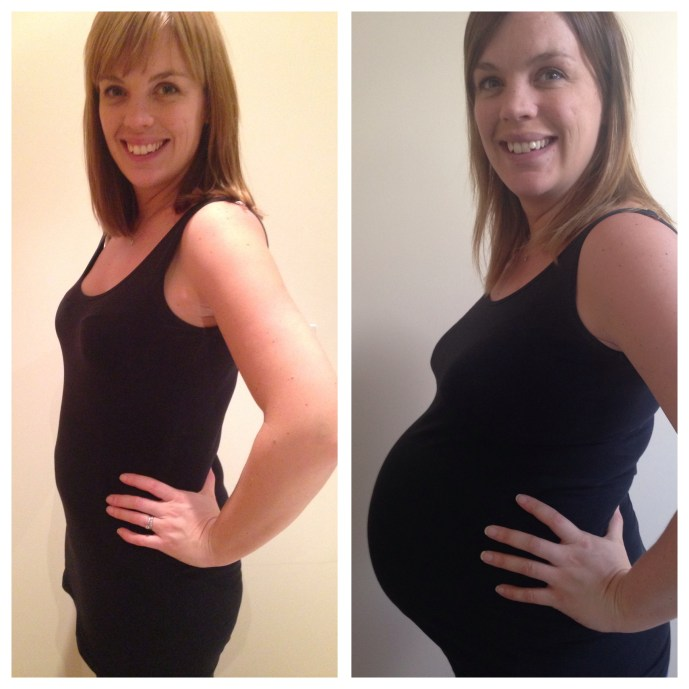 6 weeks and 35 weeks pregnant comparison