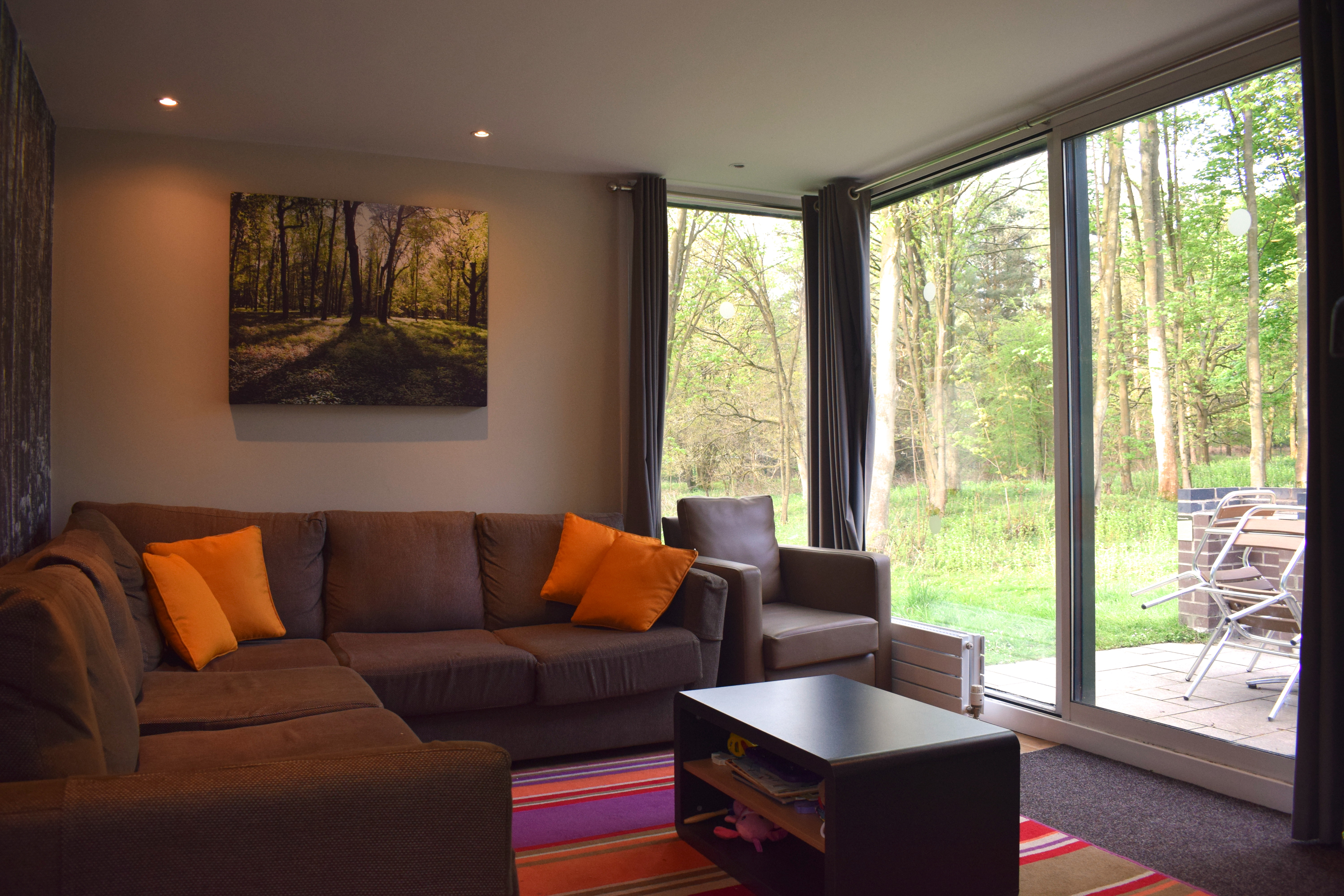 lounge in 3 bed new woodland lodge Center Parcs Elveden Forest