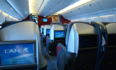 LAN business class cabin