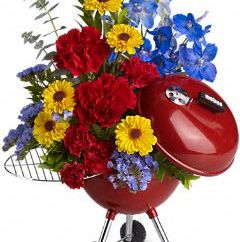 Perfect for Father's Day Teleflora King of the Grill Weber Grill Floral Arrangement