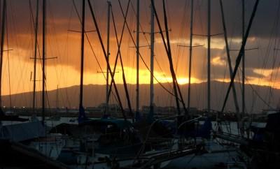 sunset in oahu