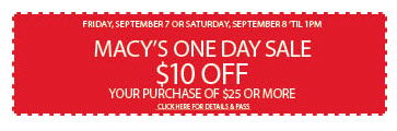 macys one day 10 off coupon