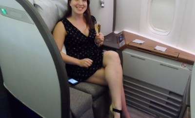 Cathay Pacific First Class Krug Keri HeelsFirstTravel