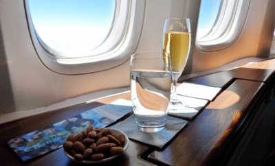 Cathay Pacific First Class Krug nuts