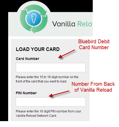 How to load vanilla reloads onto bluebird