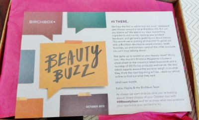 October Birchbox Beauty Buzz