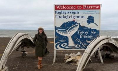 Barrow whale jaw Keri