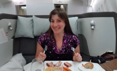 Cathay Pacific First Class Dining HKG-SFO