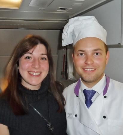 Austrian Airlines Business Class Inflight Chef Keri VIE-IAD