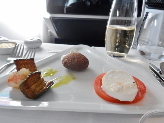Austrian Airlines Business Class hors d'oerves