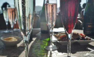 Mumm sparkling wine patio