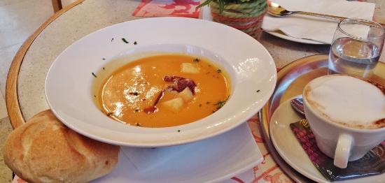 Upper Belvedere Cafe pumpkin soup