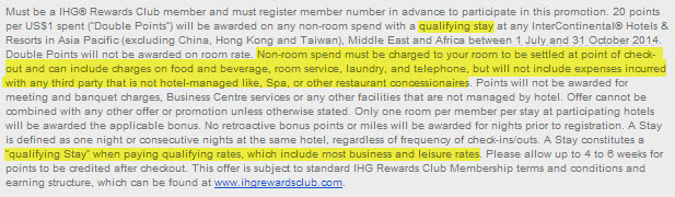 IHG 2x points terms conditions
