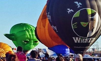 Albuquerque Balloon Fiesta 2014 Yoda Wicked Hot Air Balloon