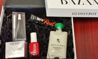 Glossybox September 2014 Harper Bazaar Contents