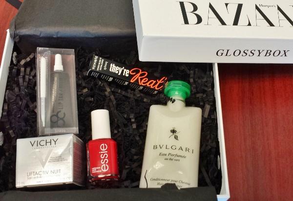 Glossybox September 2014 Harper Bazaar Contents