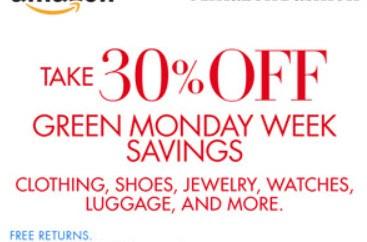 amazon green monday 30 off sale