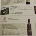 Cathay Pacific First Class JFK YVR Italian Wine Promotion menu options B